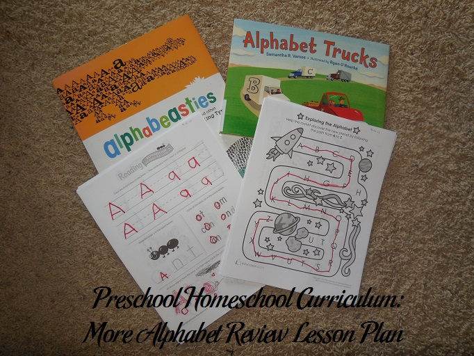 More Alphabet Review Preschool Activities