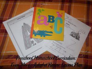 Even More Alphabet Review Preschool Activities