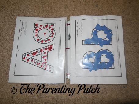 Pages of 'My Alphabet Book' Craft