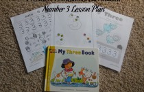 Preschool Homeschool Curriculum: Number 3 Lesson Plan