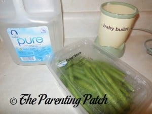 Baby Water and Green Beans