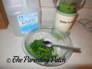 Pureeing the Cooked Green Beans