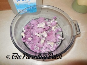 Raw Purple Cauliflower