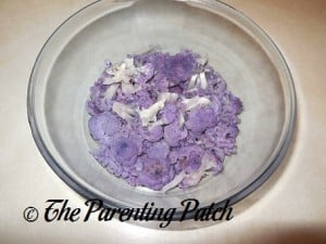 Cooked Purple Cauliflower