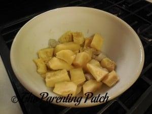 Cooked Bananas and Acorn Squash