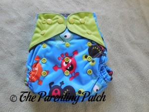 Front of ecoAble Pocket Diaper with Bamboo Insert