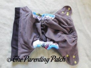 Interior of ecoAble Pocket Diaper with Bamboo Insert