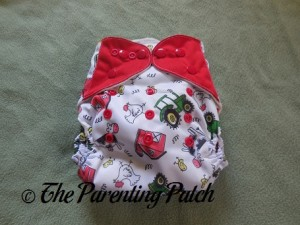 Front of ecoAble Bamboo All-in-One Cloth Diaper with Pocket