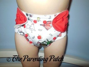 Front of ecoAble Bamboo All-in-One Cloth Diaper with Pocket on 30 Pound Preschooler 2