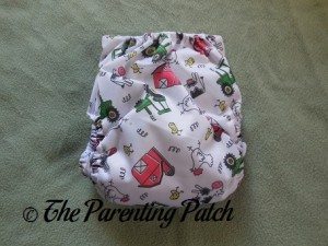 Back of ecoAble Bamboo All-in-One Cloth Diaper with Pocket