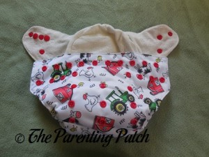Interior of ecoAble Bamboo All-in-One Cloth Diaper with Pocket