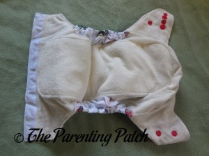Double Leg Gussets of ecoAble Bamboo All-in-One Cloth Diaper with Pocket