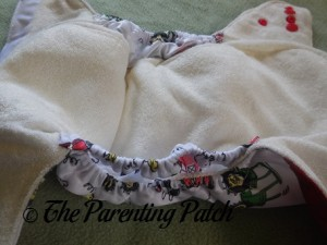 Pocket of ecoAble Bamboo All-in-One Cloth Diaper with Pocket