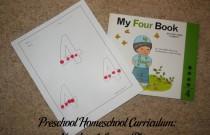 Preschool Homeschool Curriculum: Number 4 Lesson Plan