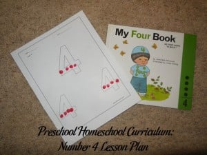 Number 4 Preschool Activities
