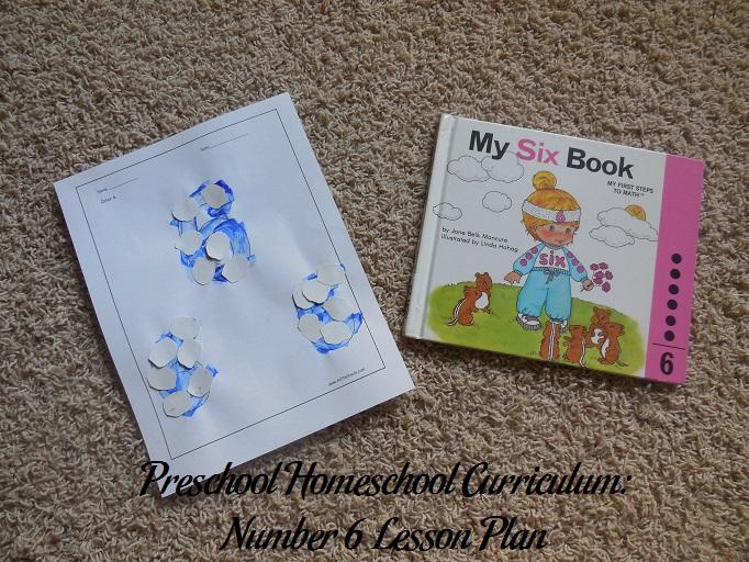 Number 6 Preschool Activities