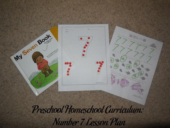 Number 7 Preschool Activities