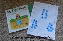 Preschool Homeschool Curriculum: Number 8 Lesson Plan