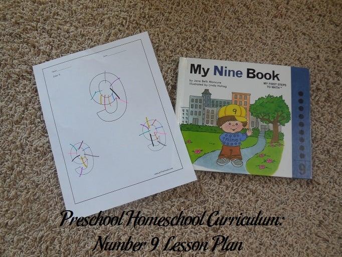 Number 9 Preschool Activities