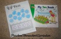 Preschool Homeschool Curriculum: Number 10 Lesson Plan