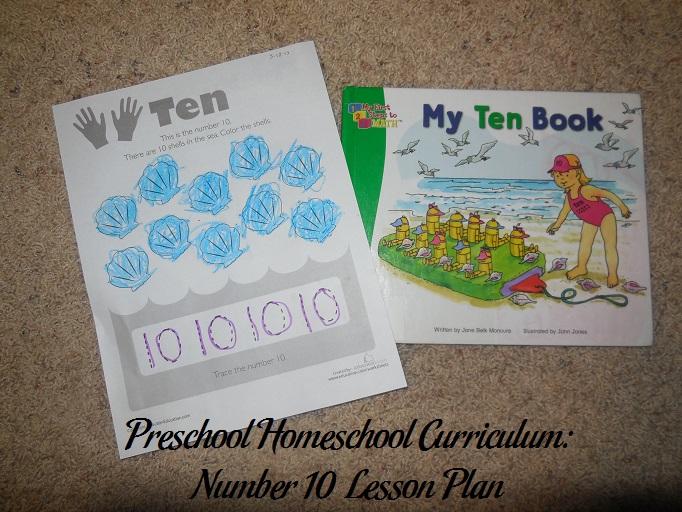 Number 10 Preschool Activities