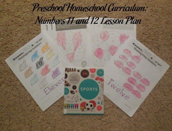 Numbers 11 and 12 Preschool Activities