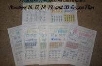 Preschool Homeschool Curriculum: Numbers 16, 17, 18, 19, and 20 Lesson Plan