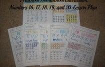 Preschool Homeschool Curriculum: Numbers 16, 17, 18, 19, and 20 Lesson Plan