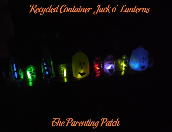 Recycled Container Jack o' Lanterns
