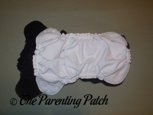 Interior of Size 1 and Size 2 AppleCheeks Envelope Diaper Covers