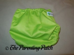 Back of Diaper Junction One-Size Diaper Cover on Small Setting