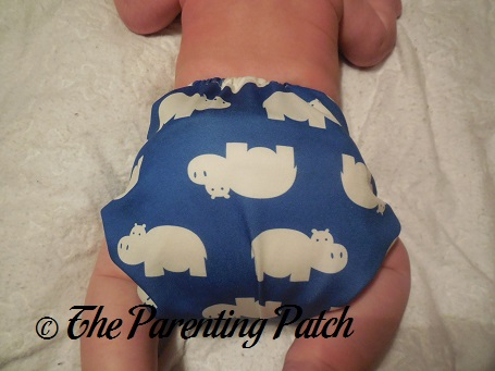 Back of Diaper Safari One-Size Diaper Cover at Fifteen Pounds