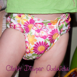 Butterflies Blueberry One-Size Deluxe Pocket Diaper 3