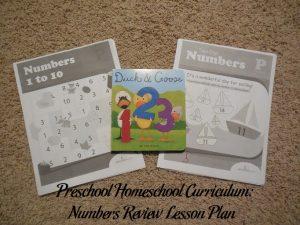 Numbers Preschool Activities