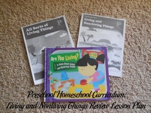 Living and Nonliving Things Preschool Activities