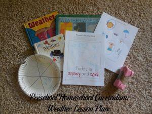 Weather Preschool Activities