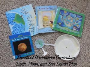 Earth, Moon, and Sun Preschool Activities