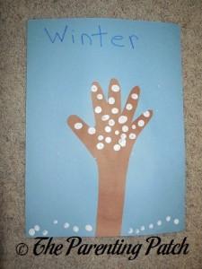 Winter Handprint Tree