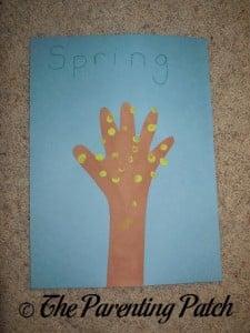 Spring Handprint Tree
