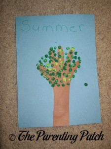 Summer Handprint Tree