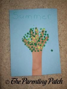 Summer Handprint Tree
