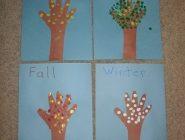 Four Seasons Handprint Trees