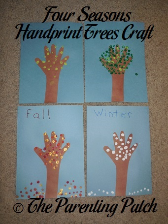 Four Seasons Handprint Trees