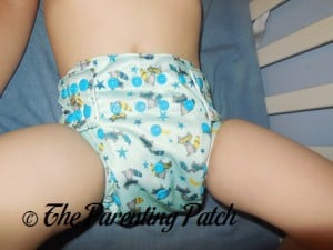Front of Sweet Pea Diapers Bamboo All-in-One on 30 Pound Preschooler 1