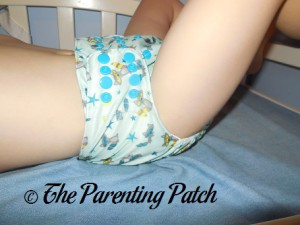Side of Sweet Pea Diapers Bamboo All-in-One on 30 Pound Preschooler 1