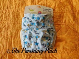 Front of Sweet Pea Diapers Bamboo All-in-One with Packaging