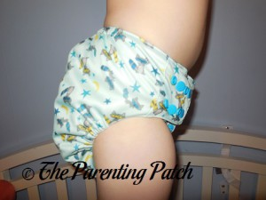 Side of Sweet Pea Diapers Bamboo All-in-One on 30 Pound Preschooler 2