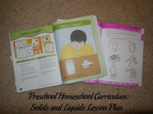 Solids and Liquids Preschool Activities