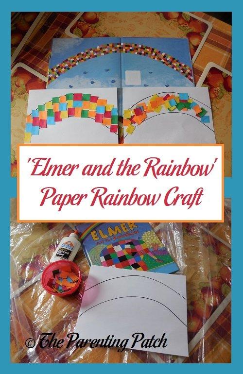 'Elmer and the Rainbow' Paper Rainbow Craft