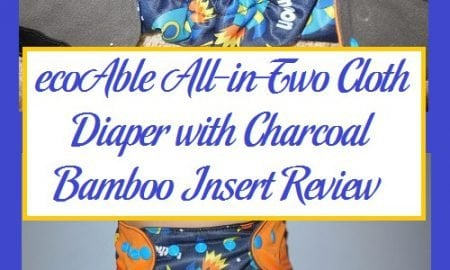 ecoAble All-in-Two Cloth Diaper with Charcoal Bamboo Insert Review